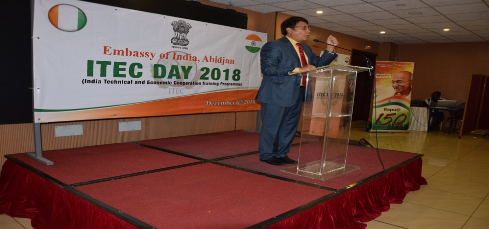 Ambassador H. E. Mr. Sailas Thangal addressing @ ITEC DAY 2018