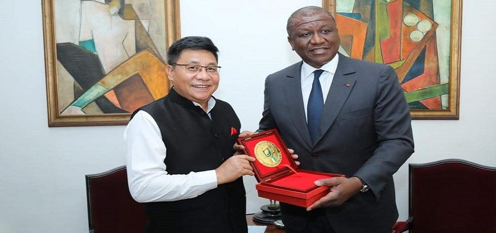 Ambassador with Minister of Defence Mr. Hamed Bakayoko