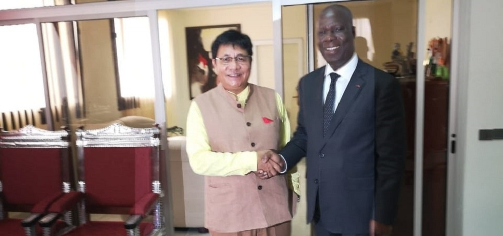 Ambassador with Minister of Culture and Francophonie Mr. Maurice Kouakou BANDAMAN