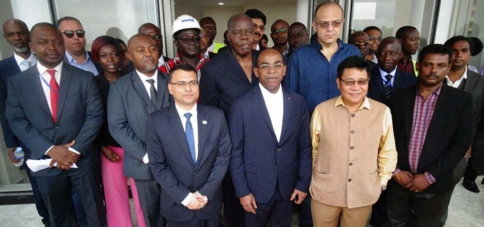 Ambassador with Minister of Digital Economy and Post Mr. M. Claude Isaac DE and colleagues