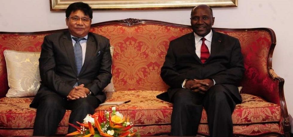 Ambassador with Vice President H.E.Mr. Daniel Kablan Duncan