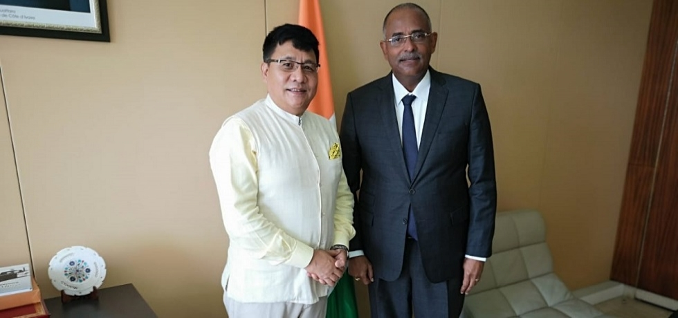 Ambassador with The Minister, Secretary General of the Presidency of the Republic Mr. Patrick ACHI