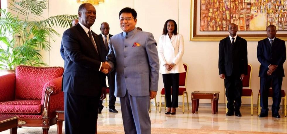 Ambassador with President H.E.Mr. Alassane OUATTARA
