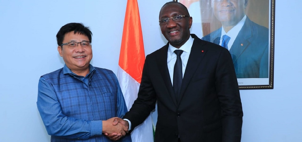 Ambassador with Minister of Commerce, Industry and SME Promotion Mr. Souleymane Diarrassouba