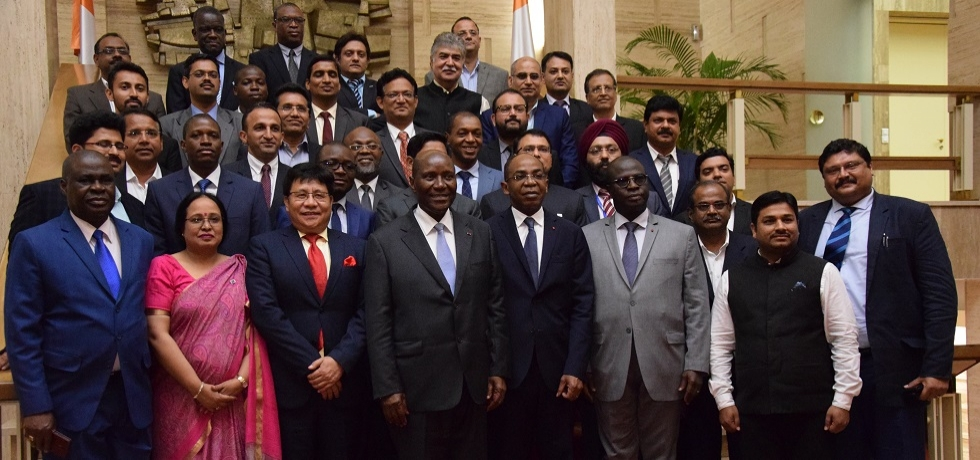 Ambassador and Indian business delegation from India call on Vice-President of the Republic of Côte d'Ivoire on June 27, 2019
