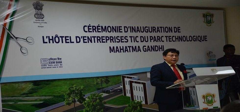 Ambassador Sailas Thangal Addressing at the Inaugural ceremony of the Mahatma Gandhi IT & Biotech Park