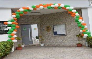 Celebration of the 73rd Independence Day of India at the Embassy of India, Abidjan