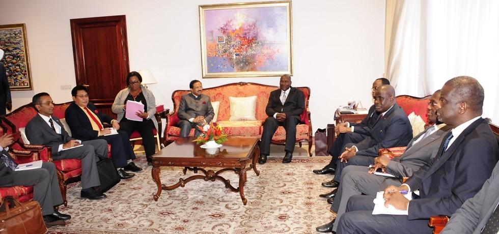 MoS V. Muraleedharan call on H.E.Mr. Daniel Kablan Duncan, Vice President of Cote d'Ivoire