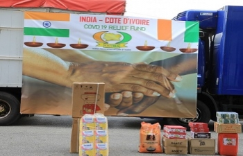 Contribution of Indian Embassy and Indian Community to Gouvernment of Cote d'Ivoire during COVID-19