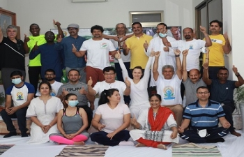 Celebration of 6th International Day of Yoga in Abidjan.