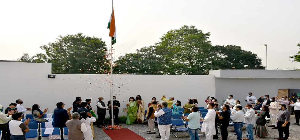 Unfurling of the national flag by the Ambassador on the occasion of the 72nd Republic Day of India Celebration