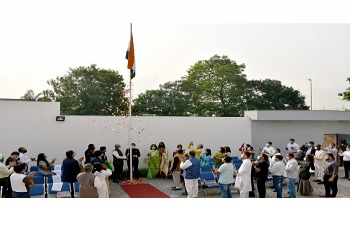 Unfurling of the National Flag Ceremony @ the 72nd Republic Day of India