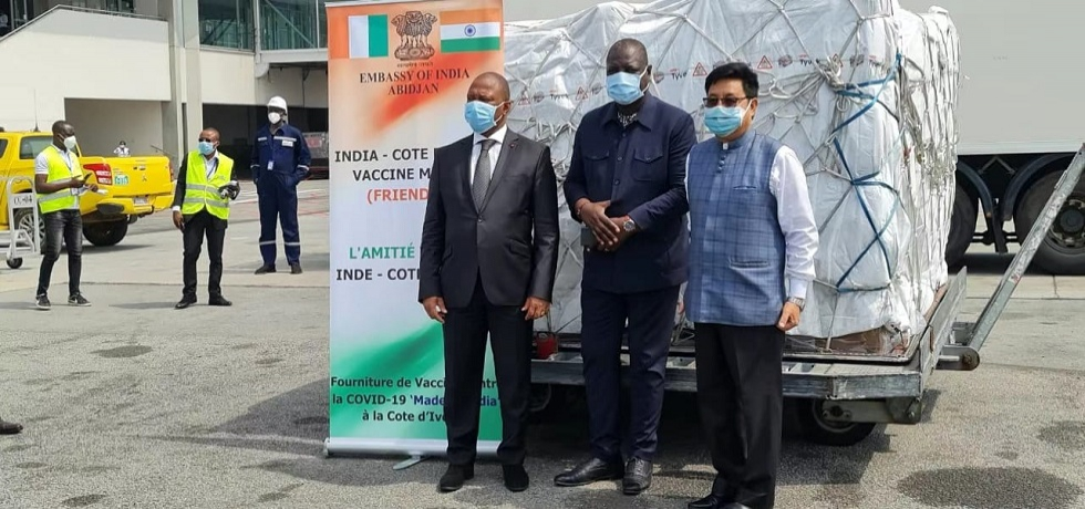 Gifting of 50000 thousand Made in India COVID-19 Vaccine to Côte d'Ivoire by India