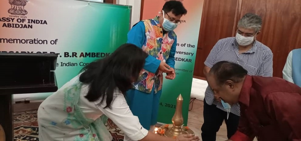 Lighting of Lamp on the occasion of the Commemoration of the 130th Birth Anniversary of Dr. Ambedkar