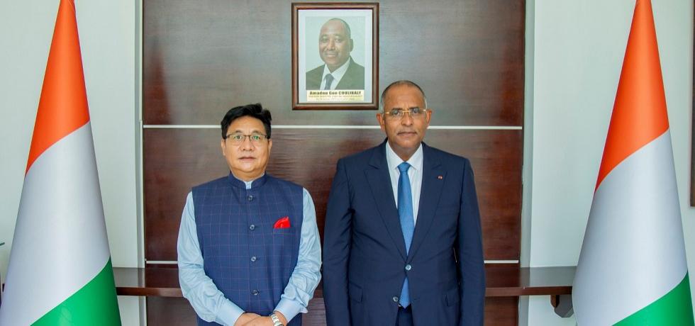 Ambassador with the Prime Minister H.E.Mr. Patrick Achi