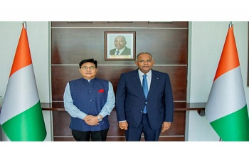 Ambassador Sailas Thangal after a meeting with the Prime Minister H.E.Mr. Patrick Achi