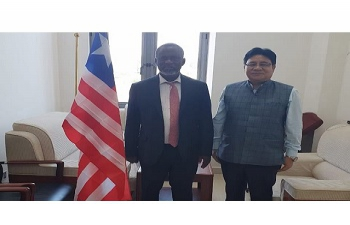 Ambassador Sailas Thangal, Meeting Liberian Minister of State & Chief  of Staff HE Nathaniel Mcgill