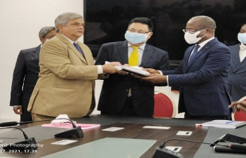 Signing ceremony for rehabilitation of 25 Health Centers and supply of equipment to 121 hospitals to be funded by EXIM Bank of India.