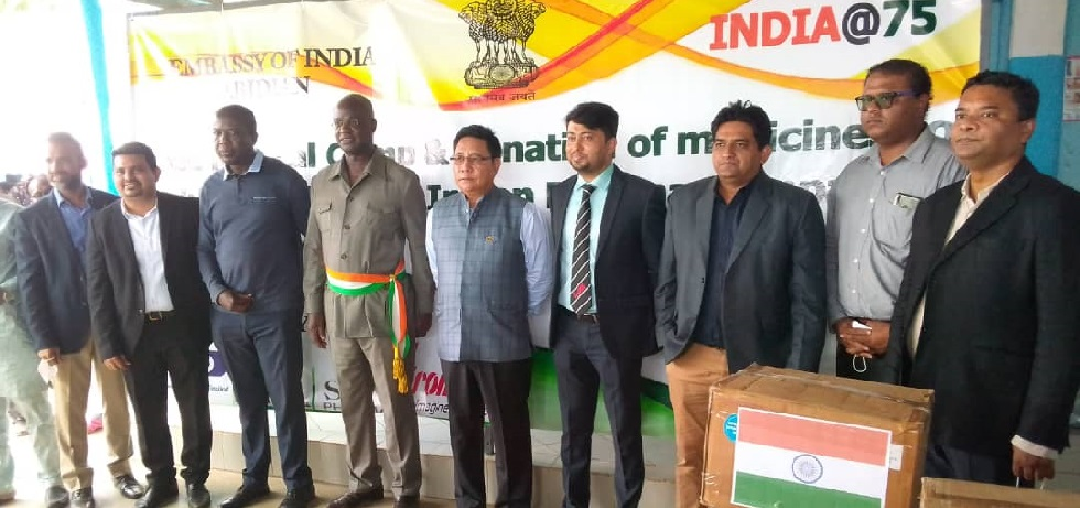 Embassy in partnership with Indian Pharma Organized Free Med-Camp & Donation of Life saving drugs to Bonoua General Hospital
