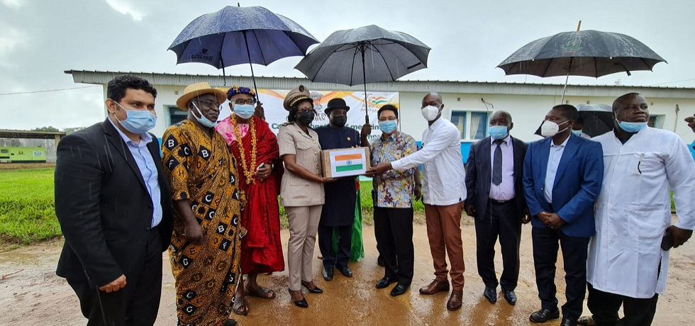 Embassy in partnership with Indian Pharma Organized Free Med-Camp & Donation of Life saving drugs to General Hospital of Dabou